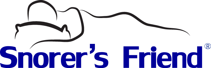 snorer's friend logo person sleeping on pillow